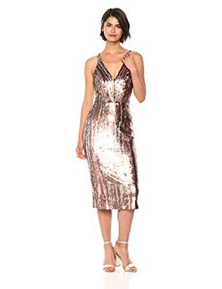 Dress the Population Women's Margo Sleeveless Sequin Stretch Midi Dress