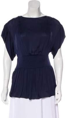 Prada Silk Short Sleeve Blouse