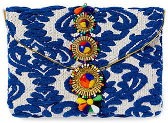 Steven By Steve Madden Embroidered Beaded Clutch $75 thestylecure.com