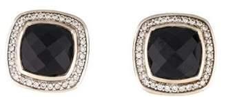 David Yurman Onyx & Diamond Albion Earrings