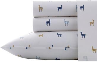 Poppy Fritz Llamas Chambray Sheet Set