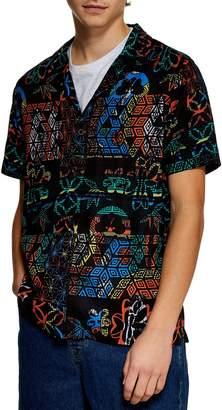 Topman Floral Roman Print Shirt