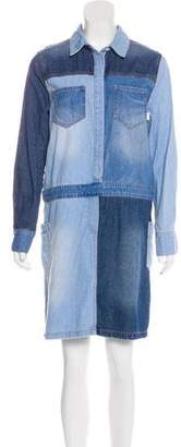 Sjyp Denim T-Shirt Dress
