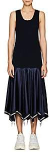 J.W.Anderson Women's Cashmere & Silk-Blend Drop-Waist Umbrella Dress - Navy