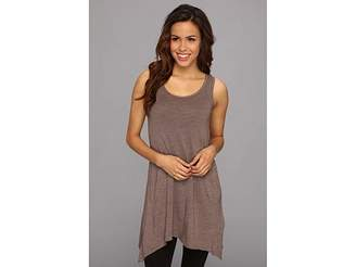 Allen Allen Scoop Neck Angled Tunic