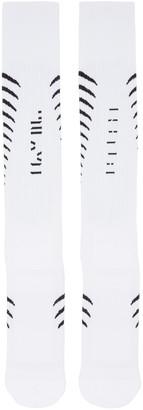 Unravel White Back Bone Socks $75 thestylecure.com