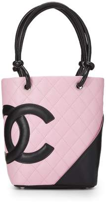 b6d474a74269 Chanel Pink Quilted Calfskin Cambon Ligne Tote Mini