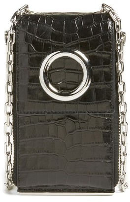 Women's Alexander Wang Riot Leather Wallet On A Chain - Black $595 thestylecure.com