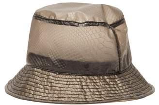 Maison Michel Jason Snake Effect Bucket Hat - Womens - Grey