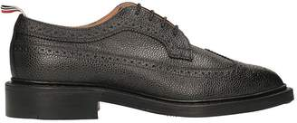 Thom Browne Black Leather Lace-up