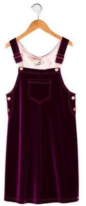 Jean Paul Gaultier Girls' Velvet Sleeveless Dress