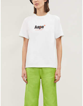 Aape Logo-print stretch-cotton T-shirt
