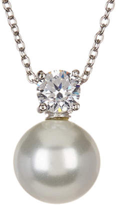 Savvy Cie Silver Cz Necklace