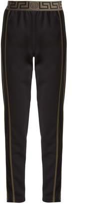 Versace Logo-jacquard side-stripe performance track pants