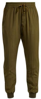 Haider Ackermann Sophora Contrast Stripe Silk Trousers - Womens - Khaki