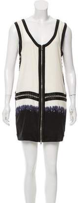 Phi Chain Accented Zip-Up Dress
