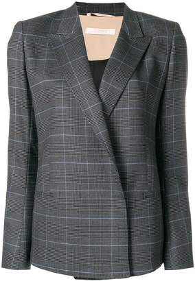 Ssheena plaid double-breasted blazer