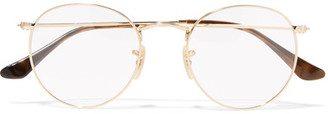 Ray-Ban - Round-frame Gold-tone Optical Glasses $165 thestylecure.com