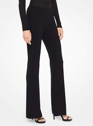 Michael Kors Stretch-Crepe Flared Pants