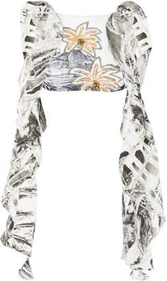 Agua de Coco Long Sleeve Bikini Top