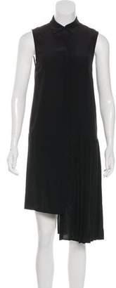 OAK Silk Pleated Midi Dress w/ Tags