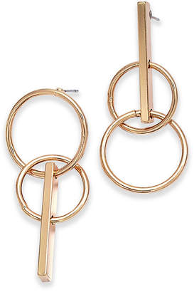 INC International Concepts I.N.C. Gold-Tone Circle Drop Mismatch Earrings, Created for Macy's
