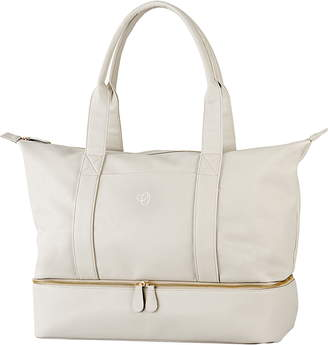 Cathy's Concepts Monogram Faux Leather Tote with Shoe Base