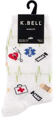 K. Bell Novelty Crew Socks - Medical Supplies