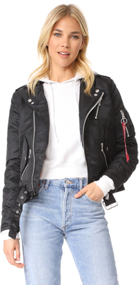 Alpha Industries Outlaw Biker Bomber Jacket $250 thestylecure.com