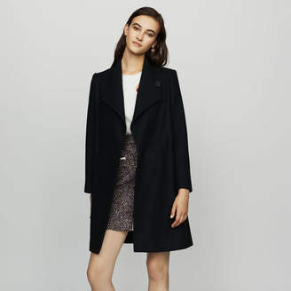 Maje Straight coat in cashmere blend