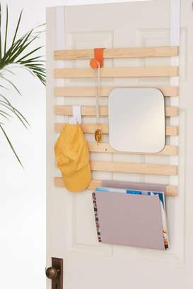 Keane Multi-Use Slatted Over-The-Door Storage Rack