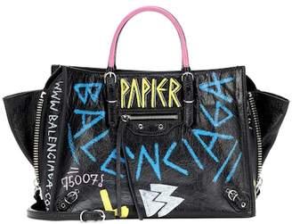 Balenciaga Papier A6 Zip Around leather shoulder bag