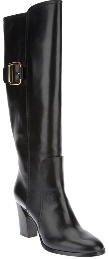 Casadei buckled knee high boot
