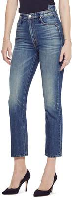 Mother The Dazzler Shift High Waist Ankle Straight Leg Jeans