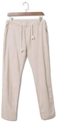 BEIGE Banana Bucket Men's Casual Beach Trousers Linen Pants