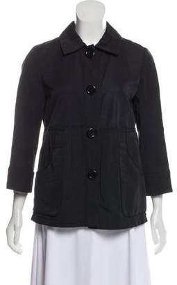 Sonia Rykiel Sonia by Spread Collar Long Sleeve Jacket