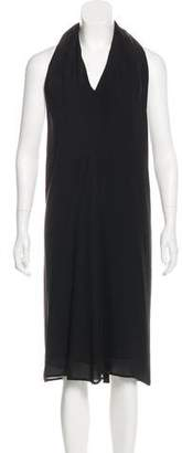 Maison Margiela Silk Halter Midi Dress
