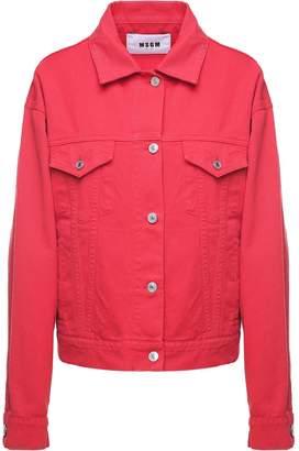 MSGM Logo-embroidery Cotton-denim Jacket