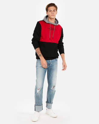 Express Embroidered Fleece Popover Hoodie