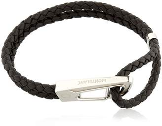 Montblanc Steel & Leather Bracelet