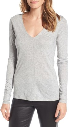 Women's Nordstrom Signature Deep V-Neck Tee $129 thestylecure.com