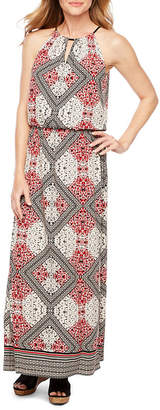 LONDON STYLE Sleeveless Diamond Maxi Dress