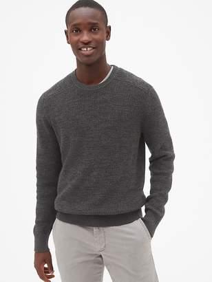 Gap Shaker Stitch Pullover Crewneck Sweater