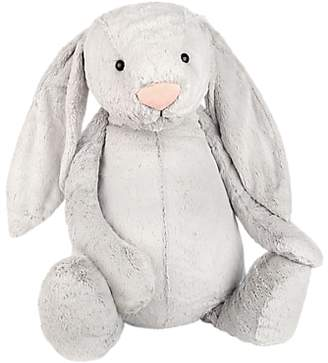Jellycat Bashful Bunny Soft Toy, Very Big, Silver