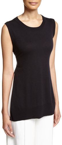 ADAM By Adam Lippes Adam Lippes Side-Slit Tie-Back Tunic, Navy