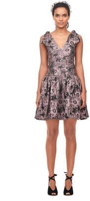 Rebecca Taylor Floral Jacquard Bow Dress