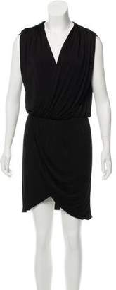 Halston Knee-Length Surplice Neckline Dress