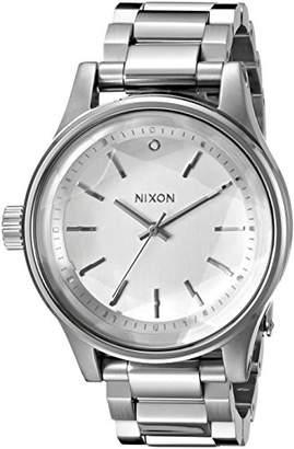 Nixon Women's A4091920 Facet 38 Analog Display Japanese Quartz Silver Watch