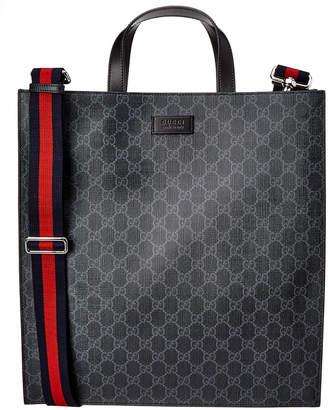 Gucci Soft Gg Supreme Leather Tote