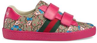 Gucci Children's Ace GG fawns sneaker